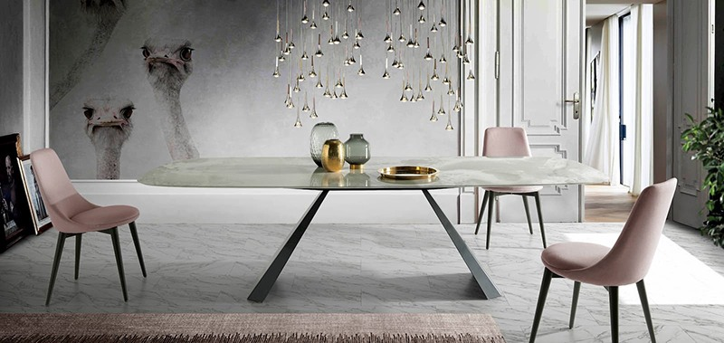 mesa de cristal para comedor