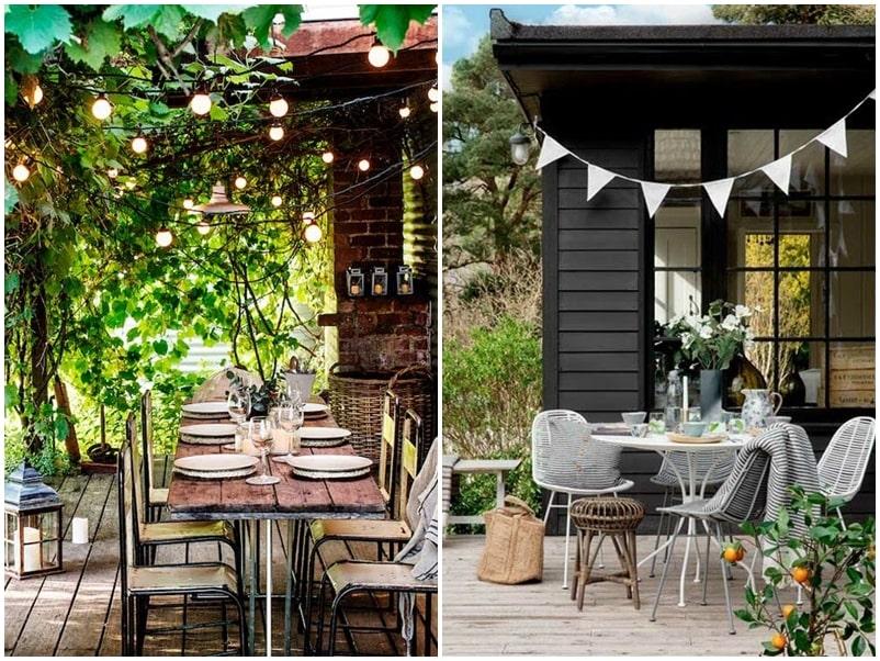 Decoración muebles de jardín
