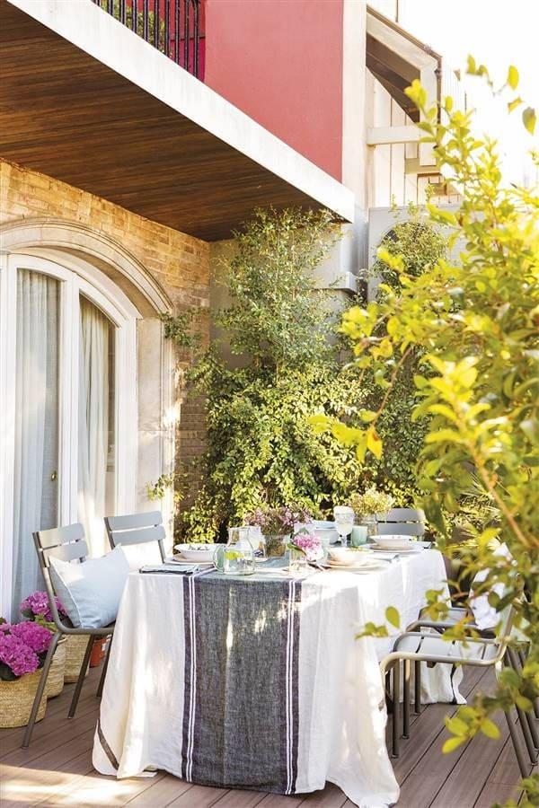 idea para mesa de exterior decoración