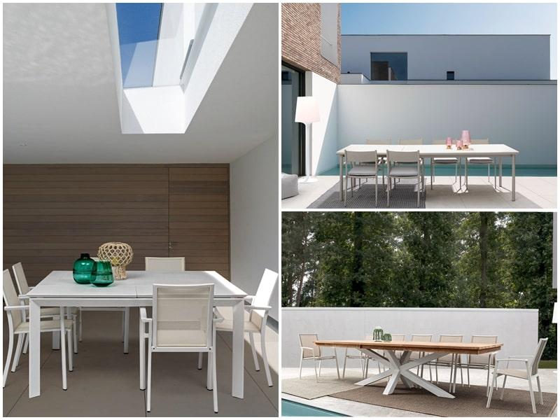 Ideas para muebles exteriores rectangulares