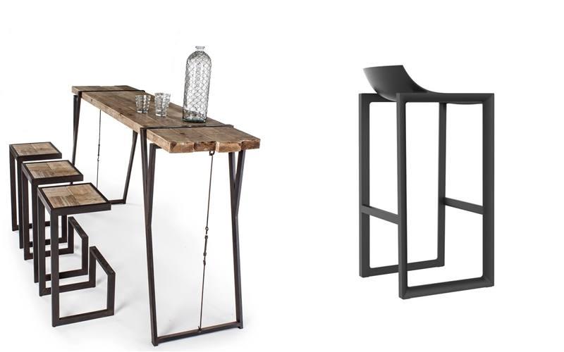 mesas altas y taburetes de diseño