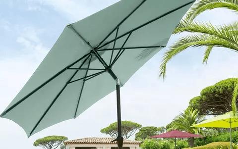 Parasol reclinable