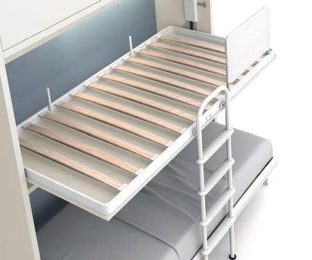 Somier integrado con láminas curvadas