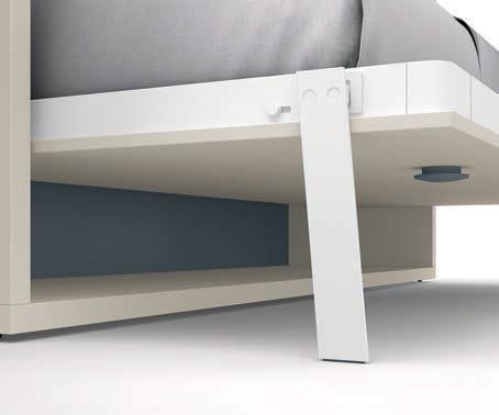 Botón de desbloqueo de cama